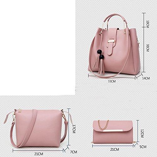 Frauen Designer Handtaschen Tote Handtasche Umhängetasche Eimer Tasche 3er Pack Camel