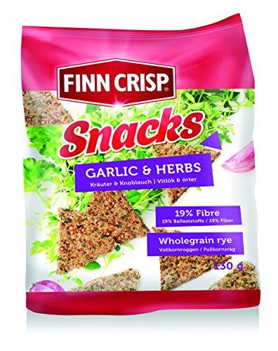 Finn Crisp Biscote Pan Plus Rye Snacks ajo & Finas Hierbas - 130 gr