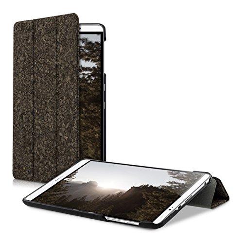 kwmobile Kork Smart Cover für Huawei MediaPad M2 8.0 Dunkelbraun mit Ständer