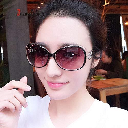 Sonnenbrille weiblichen Flutstern Brille 2017 Neue Elegante Sonnenbrille Damen rundes Gesicht Fahrer Augen lila Code, braun