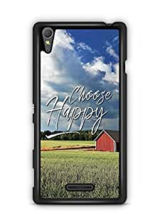 YuBingo Choose Happy Designer Mobile Case Back Cover for Sony Xperia T3