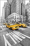 Acrylglasbild 60 x 90 cm: New York Yellow Cab von Marcus Klepper - Wandbild, Acryl Glasbild, Druck auf Acryl Glas Bild