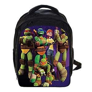 51l9ZOIZCdL. SS300  - Mochila para la Escuela Ligero Tortugas Ninjas Mutantes Adolescentes Mochila para niños Elemental Mochilas para Chicos 12.99 * 5.7 * 9.44 Pulgadas,H