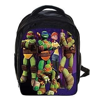 Mochila para la Escuela Ligero Tortugas Ninjas Mutantes Adolescentes Mochila para niños Elemental Mochilas para Chicos 12.99 * 5.7 * 9.44 Pulgadas,H