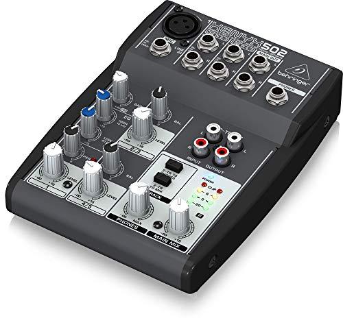 Behringer Xenyx Q502USB - Mezclador USB DJ 5 entradas