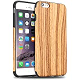 iPhone 6s Plus Funda, Tendlin Madera Natural Suave TPU Delgado Funda para iPhone 6 Plus y iPhone 6s Plus ((madera de teca))