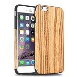 TENDLIN iPhone 6s Hülle Holz und Flexiblem TPU Silikon Hybrid Weiche Schutzhülle für iPhone 6 6s (Teakholz)