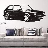 Rimovibile Vintage XL Large Car VW Golf GTI Mk1 Classico Wall Art Decal Sticker Home Decoration Art Murale Carta Auto Sticker A-10 42 * 110 cm