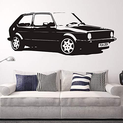 Rimovibile Vintage XL Large Car VW Golf GTI Mk1 Classico Wall Art Decal Sticker Decorazione Della Casa di Arte Murale Carta Auto Sticker 57 * 150 CM