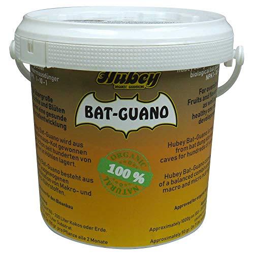 Hubey Bat-Guano - 100% Fledermauskot - Fledermausdünger - biologischer Naturdünger - für Gartenerde - für Freilandanbau & Indoor-Anbau (1.00) (Pulver Dünger)