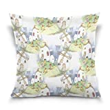 Best Pillowcase Modern Fantasy Sofas - Double Sided Fantasy Fairy Tale Chicken Family Windmill Review