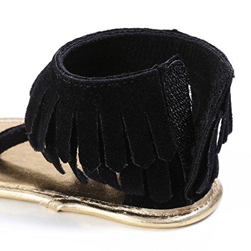 Etrack-Online  Baby Sandals, Baby Mädchen Lauflernschuhe Schwarz