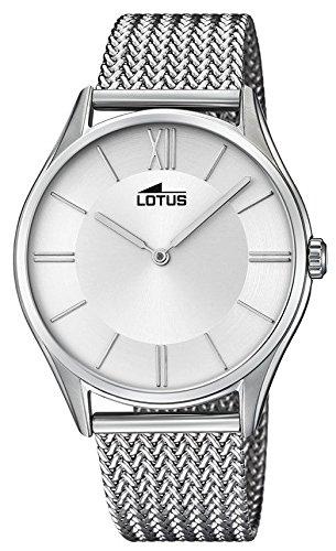 Lotus Reloj Analógico para Hombre de Cuarzo con Correa en Acero Inoxidable 18487/1