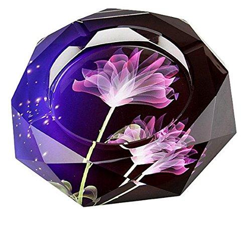 BKPH Aschenbecher kreative Persönlichkeit Trend Mehrzweck-Glas großes Wohnzimmer, Purple, 12cm