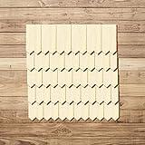 Bütic GmbH Sperrholz Schindeln - Zackenform - Größen- und Mengenauswahl, Schindelgröße:70mm x 35mm, Pack mit:100 Stück