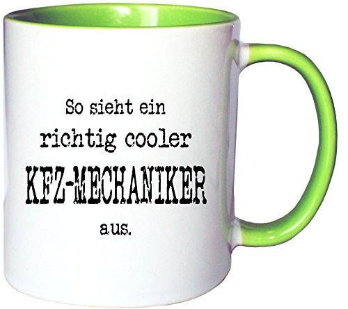 Mister Merchandise Kaffeetasse Becher So Sieht EIN richtig Cooler KFZ-Mechaniker aus, Farbe:...
