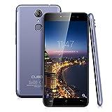 Smartphone Debloqué 4G, Cubot Note Plus Téléphone Portable Débloqué 5.2 Pouces Android 7.0 MTK6737T Quad Core 1.5GHz 3GB RAM 32GB ROM 13.0MP Caméras Doubles Empreintes Digitales (Bleu)