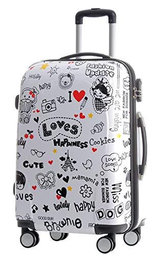 BEIBYE BEIBYE Reisekoffer Hartschalen Hardcase Trolley Zahlenschloss Polycarbonat Set-XL-L-M- Beutycase (Love, L)