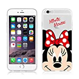 NEW Disney Princesses Transparent Coque souple en TPU pour Apple iPhone 5, 5S, 5C, 6 &6S (iphone 6/6s, Minnie)