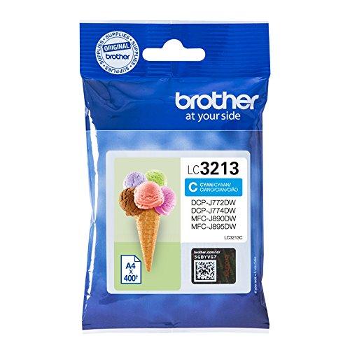 Preisvergleich Produktbild Brother LC-3213C Tintenpatrone (400 Seiten, geeignet für Brother DCP-J772DW, DCP-J774DW, MFC-J890DW, MFC-J895DW) cyan