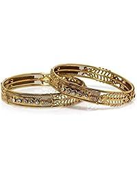 Bindhani® Traditional Ethnic Wedding Gold Plated Bangles Bracelets Set For Women (2-6)