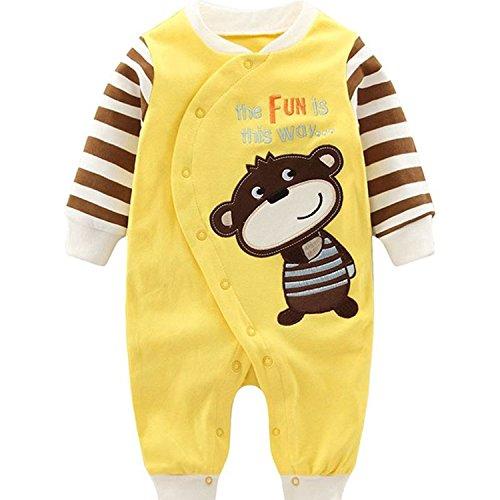 Yezelend Baby Strampler Jungen Mädchen Schlafanzug Baumwolle Overalls Säugling Spielanzug Baby-Nachtwäsche (AFFE, 0-3 Monate) (Kostüm Halloween 18-24 Monate Affe)
