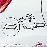 Simon's Cat Feeding Schüssel Auto Aufkleber zum Tankdeckel Schwarz by Inspired Walls®