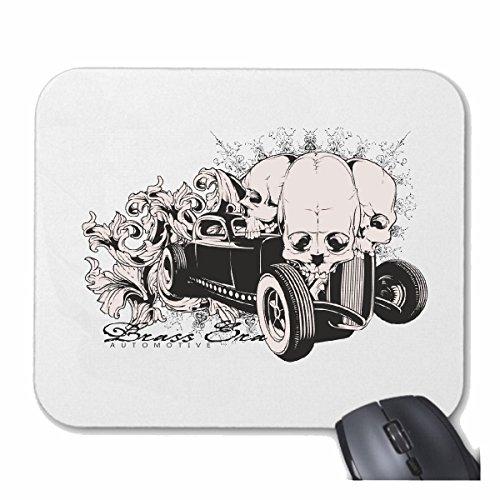 """'tappetino per mouse (mouse) """"Hot Rod California Oldtimer Mafia Hot Rod US car mucle Car V8Route 66USA in America per il tuo portatile, Notebook o PC Internet.. (con Windows Linux ecc.) in Bianco"""