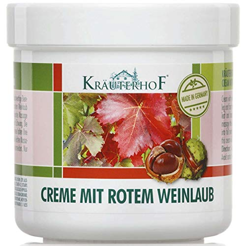Horse Chestnut Leaf (KrauterhoF Foot Cream for Varicose Veins with horse chestnut and red vine leaves by Krauterhof)