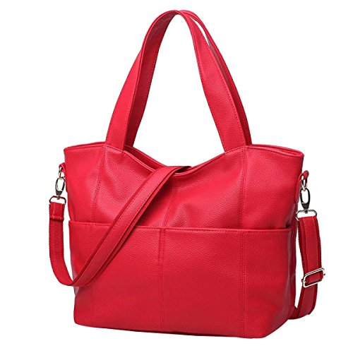Frauen Lässige Kleidung Handtasche Schultertasche Einfach Messenger Bag Red