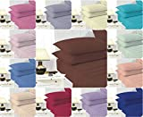 """Comfort-Style EASYCARE Extra-Deep Fitted Bed Sheets ~ Non-Iron 16"""" (40cm) Full Deep & PERCALE quality for THICK MATTRESS ~ 20 COLORS & UK SIZES (Silver, King)"""