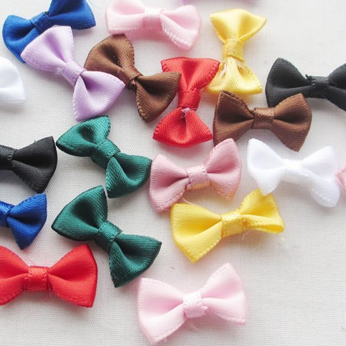 Chenkou Craft lazos cinta pequeños raso flor apliques
