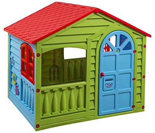 Childrens Indoor & Outdoor Summer Garden Happy House Kids Fun Playhouse