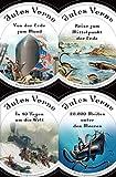 Jules Verne - Romane (20.000 Meilen unter den Meeren - In 80 Tagen um die Welt - Reise zum Mittelpunkt der Erde - Von der Erde zum Mond): Mit den Illustrationen ... Neue deutsche Rechtschreibung
