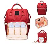 Styleys Waterproof Multifunctional Diaper Bags for Mom for Travel Nappy Tote Backpack Large Size - 20 x 18 x 40 cms (Red)