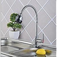 SBWYLT-Acqua d'ottone moderno bacino del rubinetto lavabo mix per rotazione a parete universale di cucina rubinetto acqua fredda singolo foro di piombo rubinetti