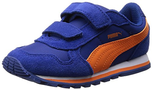 Puma Unisex-Kinder St Runner Nl V Inf Low-Top Blau (limoges-vibrant orange 08)