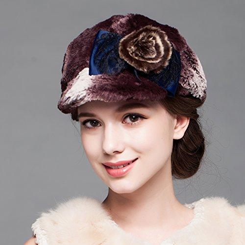 BTBTAV*Winter Frau hat im Herbst und Winter Fashion runden Hut Hüte , dicke warme ohren und (Dress Alice Im Spiel Wunderland Up)