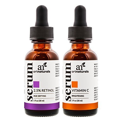 Estee Körper Pulver (ArtNaturals Vitamin C und Retinol Serum - Anti Aging Set - je 30 ml)
