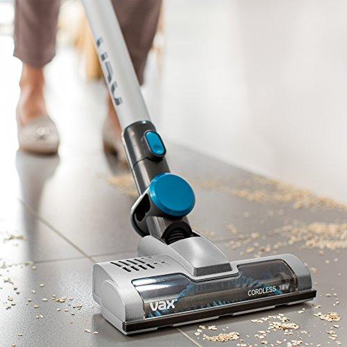 51l9onA2WsL. SS500  - Vax Cordless SlimVac Vacuum Cleaner, 0.6 Litre, 18 V, 130 W, Silver/Blue