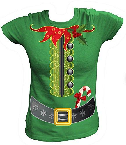 Artdiktat - Elfen Kostüm zu Weihnachten für Herren Damen Kinder Babies - Damen T-Shirt Größe XL, ()