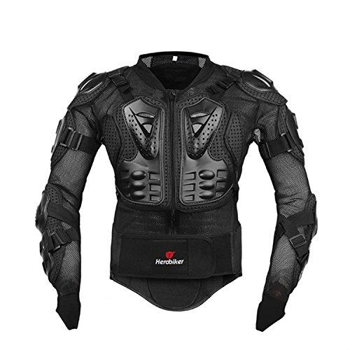 Professionale armatura Motocross Giacca da Moto Mountain Ciclismo Racing pattinaggio dorso proteggi schermo popolare, donna Uomo, Black, M