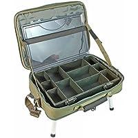 NGT–Unisex FLA boxcase DLX 612Deluxe Caja de Pescadores Sistema, Verde, 40x 36,5x 6,5cm