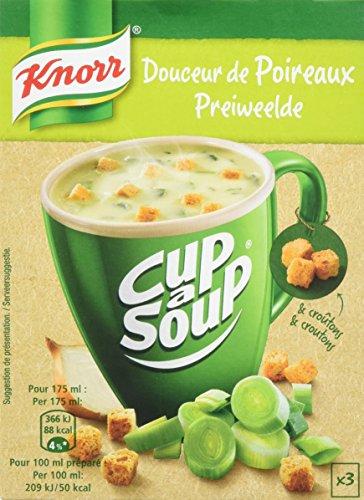 Knorr Soupe Instantanée Cup a Soup Douceur de Poireaux 3 x 17 g - Lot de 6