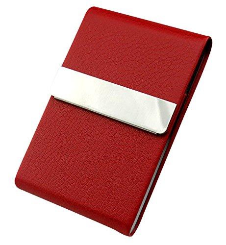 Aieoe - Pitillera Pequeño para Mujer Caja de 7 Cigarros Estuche para Tarjetas de Negocio - Rojo - 9 * 6 * 1cm