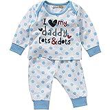 Lullaby Baby Boys I Love My Mummy Daddy Striped Spot Pyjamas Pyjamas