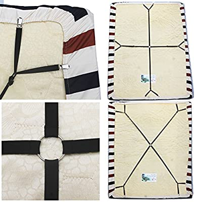 Crisscross Adjustable Bed Sheet Straps Bed Sheet Suspenders Gripper Bed Sheet Holder Bed Sheet Fastener -Keep your bed sheet in place! - low-cost UK light store.