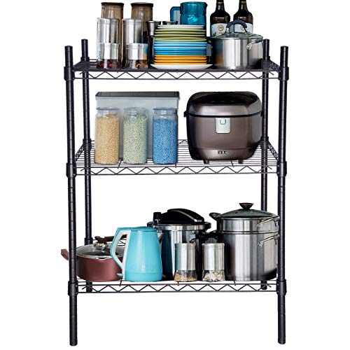 EUGAD 0019CC Küchenregal Standregal Laderregal Haushaltsregal Metallregal Bad mit 3 Regalböden