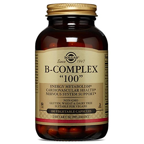 "Solgar Formula Vitamin B-Complex ""100"" Vegetable Capsules - 100 Vegicaps Test"