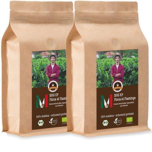 Kaffee Globetrotter - Mexico Finca El Flamingo - Bio - 2 x 1000 g Fein Gemahlen - für...